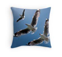 Sea Gulls Throw Pillow
