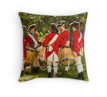 Americana - Preparing for battle Throw Pillow