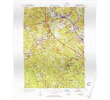 Massachusetts  USGS Historical Topo Map MA Uxbridge 352279 1953 31680 Poster