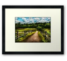 Country - Every journey starts with a path  Framed Print