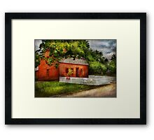 Country - Farm - A small farm house  Framed Print