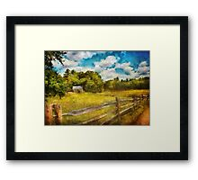 Country - It's so peaceful in the country Framed Print