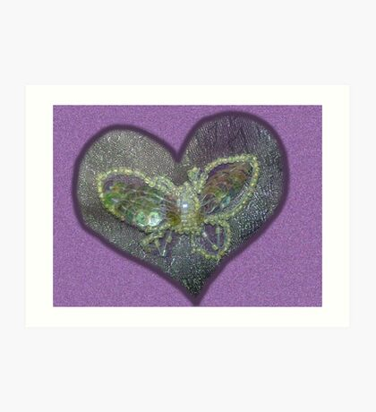Butterfly Broach - Tribute Art Print