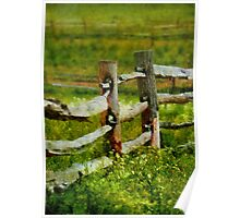 Country - The old fence post  Poster