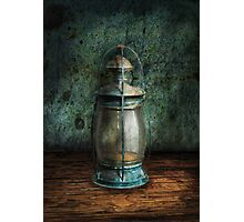 Steampunk - An old lantern Photographic Print