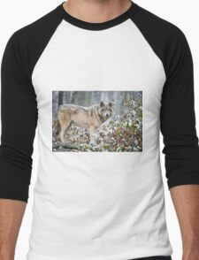 Timber Wolf Men's Baseball ¾ T-Shirt
