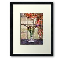Flower - A vase of flowers  Framed Print