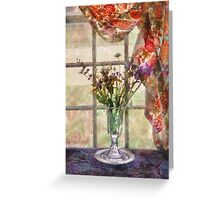 Flower - A vase of flowers  Greeting Card