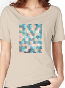 Child's Play 2 - hexagon pattern in soft blue, pink, peach & aqua Women's Relaxed Fit T-Shirt