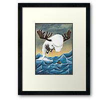 The search for the Moose Whale Framed Print
