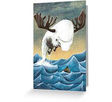 The search for the Moose Whale Greeting Card