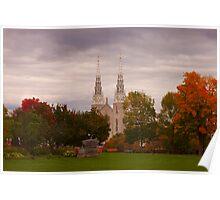 Notre Dame Basilica - Ottawa Poster