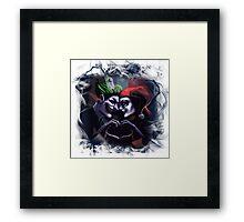 Harley Quinn & Joker mad love  Framed Print