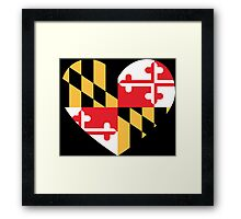 maryland flag heart - loved as sticker, now available in leggings and skirt Framed Print