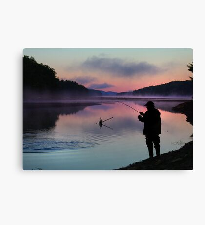 Early Catch Canvas Print