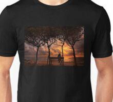 Sunset at the beach of Zacharo - Peloponnese Unisex T-Shirt