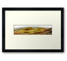 Arthurs Seat Panoramic - Edinburgh - Scotland Framed Print