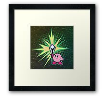 Kirby Sword Framed Print