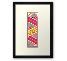Back to the Future Hover Board Framed Print