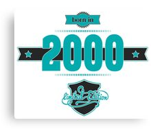 Born in 2000 (Blue&Darkgrey) Canvas Print