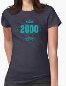 Born in 2000 (Blue&Darkgrey) Womens Fitted T-Shirt