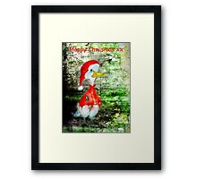 Happy Chwismas xx Framed Print