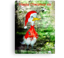 Happy Chwismas xx Canvas Print