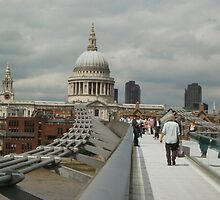 Millennium Bridge & St Paul's Cathedral, London 2010 by MagsWilliamson