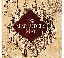 marauders map Harry Potter by Michellelindse