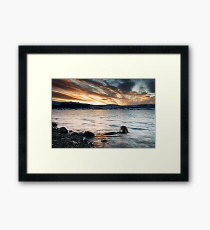 Sunset at Glacier Lagoon #2 Framed Print