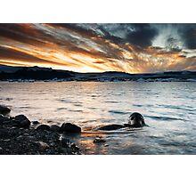 Sunset at Glacier Lagoon #2 Photographic Print