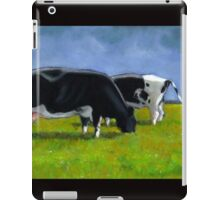 Holstein Dairy Cows Grazing, Pastel Painting iPad Case/Skin