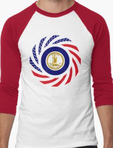 Virginian Murican Patriot Flag Series Men's Baseball ¾ T-Shirt