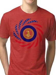 Virginian Murican Patriot Flag Series Tri-blend T-Shirt