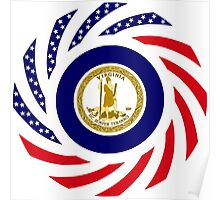 Virginian Murican Patriot Flag Series Poster