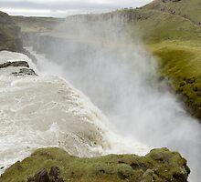 Icelandic waterfall Gullfoss by terjekj