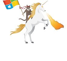 Windows 10 Ninja Cat on Unicorn by Asdrubal Pocinho