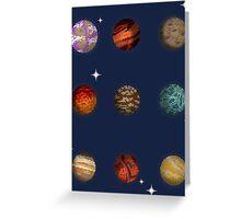 Planet Pixel Greeting Card
