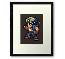 Locke Ready! Framed Print