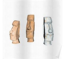 Icons - Easter Island by Pierre Blanchard Poster