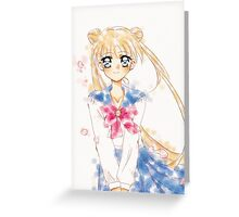 Sailor moon Water Color  Greeting Card