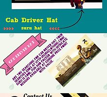 Cab Driver Hat- www.suruclothing.com by suruclothing01