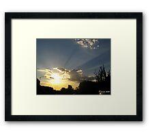 Desert dawn - sun up in El Mirage Framed Print