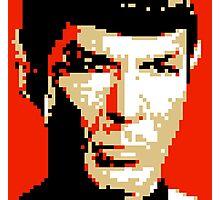Pixel-ated 8-bit Star Trek Spock Photographic Print