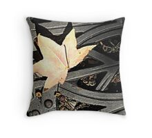 Grate and Leaf Throw Pillow