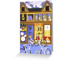 Alice's Coffeehouse greeting Greeting Card