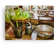 Kitchen - Eat your greens Canvas Print