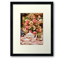 Kitchen - More tea Milady Framed Print