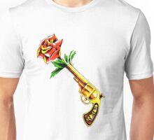 Gun Rose Tattoo T Shirt Unisex T-Shirt