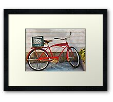 Bike - Delivery Bike Framed Print